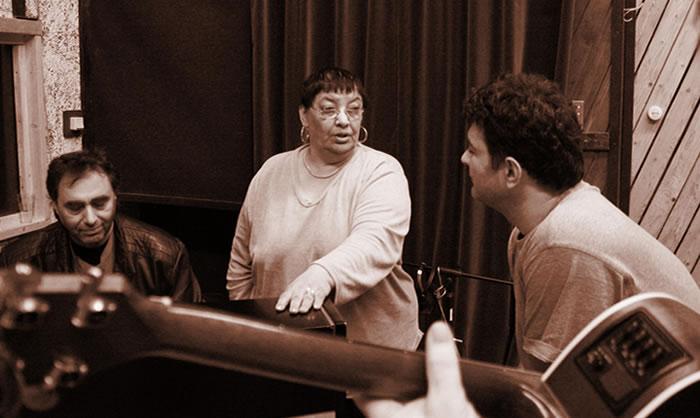 "Ljiljana Buttler and Dragi Sestic - recording of the album ""Frozen Roses"""